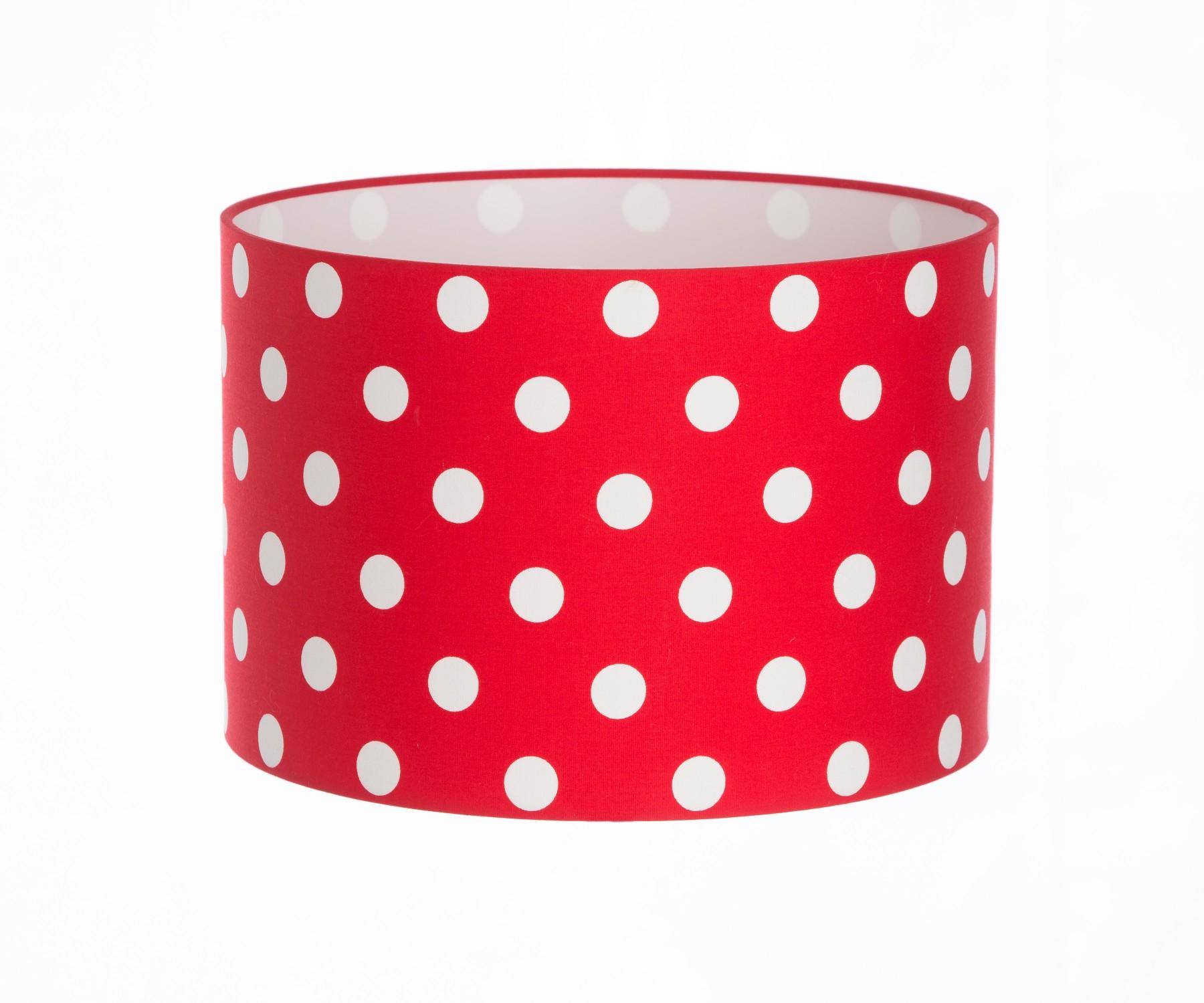 Red Polka Dot Lampshade Shade Studios
