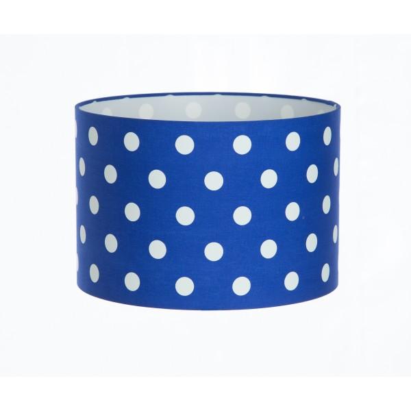 Hand Made Royal Blue Polka-Dot Lampshade
