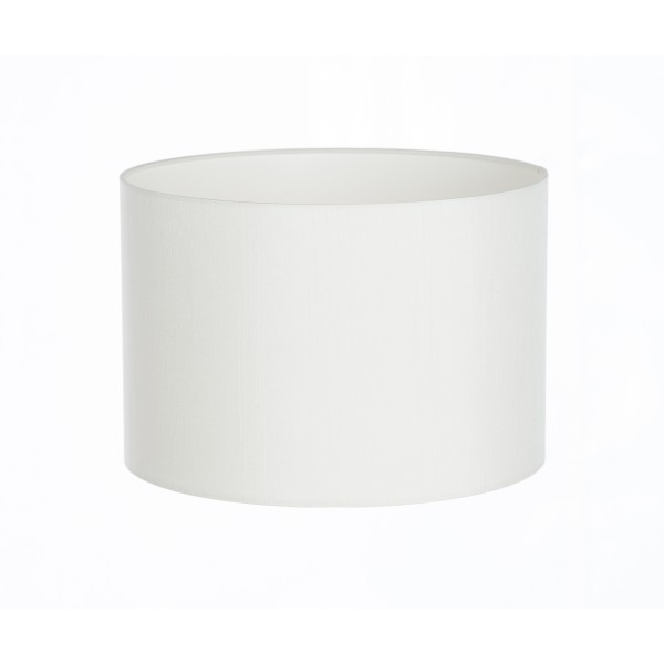 Hand Made White Satin Backed Duppion Lampshade