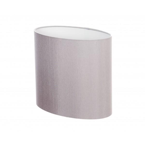 Hand Made Gunmetal Grey Oval Lampshade