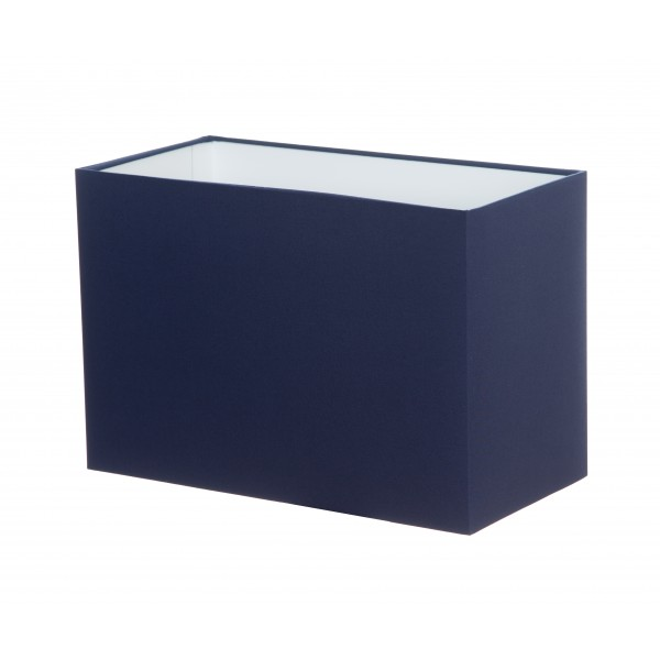 Hand Made Navy Blue Rectangle Lampshade
