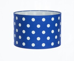 Hand Made Royal Blue Polka-Dot Lampshade
