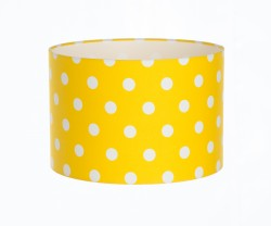 Hand Made Sunshine Yellow Polka-Dot Lampshade