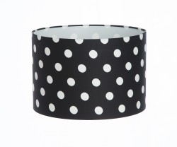 Hand Made Black Polka-Dot Lampshade