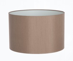 Hand Made Taupe Satin Backed Duppion Lampshade