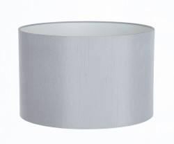 Hand Made Silver-Grey Satin Backed Duppion Lampshade