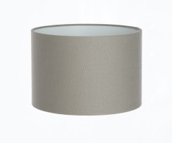 Hand Made Dove Grey Linen Lampshade