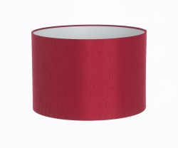 Hand Made Claret Red Satin Backed Duppion Lampshade
