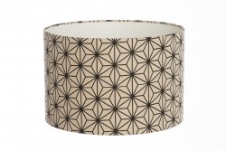 Hand Made Natural and Black Star Geometric Designed Lampshade