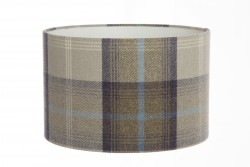 Hand Made Oxford Blue and Grey Checked Tartan Print Lampshade