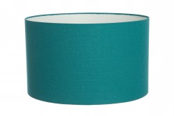 Hand Made Teal Linen Lampshade