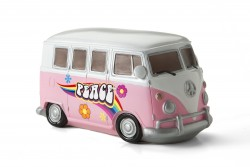 Pink Peace Camper Retro Light