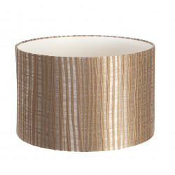 Hand Made Taupe Pisa Lampshade With Taupe Stripes