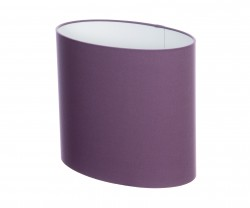 Hand Made Mauve Purple Oval Lampshade