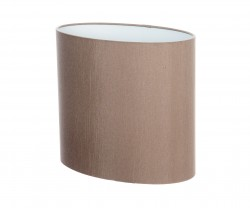 Hand Made Taupe Mink Oval Lampshade