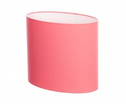 Hand Made Blush Pink Cotton Oval Lampshade