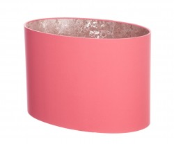 Hand Made Blush Pink Cotton Oval Lampshade with Rose Gold Lining