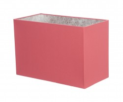 Hand Made Blush Pink Rectangle Lampshade with Silver Lining