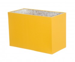 Hand Made Sunshine Yellow Rectangle Lampshade with Silver Lining