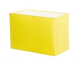 Hand Made Neon Yellow Rectangle Lampshade