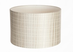 Hand Made Ivory Pisa Lampshade With Ivory Stripes