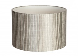 Hand Made Silver Pisa Lampshade With Silver Stripes