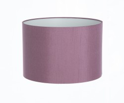 Hand Made Mauve Purple Satin Backed Duppion Lampshade