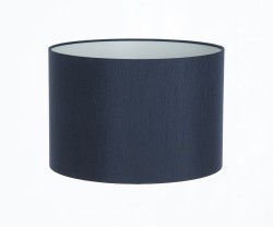 Hand Made Navy Blue Satin Backed Duppion Lampshade
