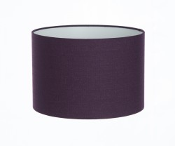 Hand Made Purple Damson Linen Lampshade