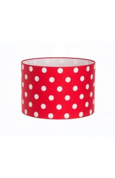 Hand Made Bright Red Polka-Dot Lampshade