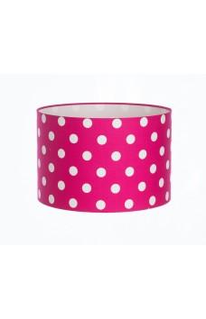Hand Made Cerise Pink Polka-Dot Lampshade