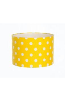 Hand Made Sunshine Yellow Polka-Dot Lampshade