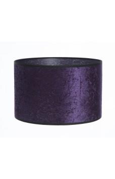 Hand Made Purple Crushed Velvet Lampshade