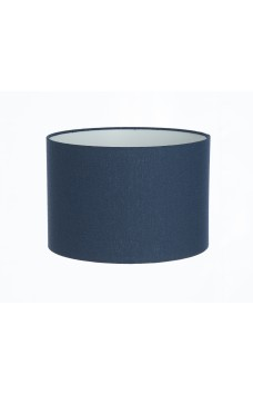 Hand Made French Navy Blue Linen Lampshade