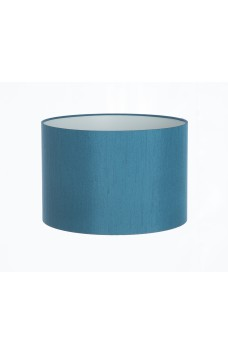 Hand Made Teal Satin Backed Duppion Lampshade