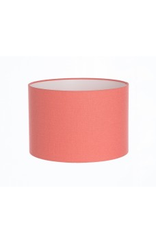 Hand Made Salmon Pink Linen Lampshade