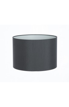 Hand Made Charcoal Satin Backed Duppion Lampshade