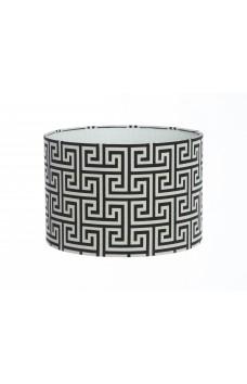 Hand Made Black and White Geometric Mirror Maze Design Lampshade