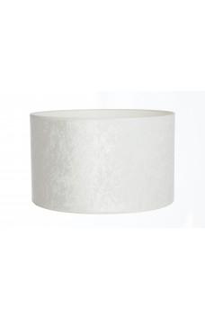 Hand Made Crushed White Velvet Lampshade