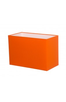 Hand Made Tangerine Orange Rectangle Lampshade
